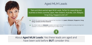 Aged MLM Leads